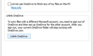 No pudimos encontrar tu carpeta de OneDrive
