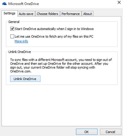 Mover o cambiar la ubicación de la carpeta OneDrive en Windows 10 2