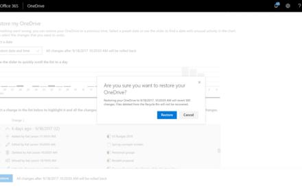Cómo utilizar la nueva función Restaurar archivos en OneDrive