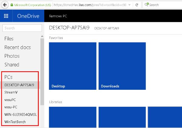 Cómo obtener archivos de forma remota desde un PC con Windows 10 usando el sitio web de OneDrive