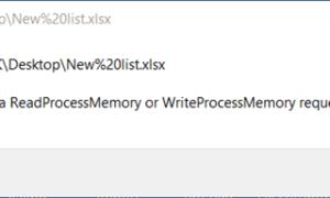 Sólo se completó parte de una solicitud de ReadProcessMemory o WriteProcessMemory.