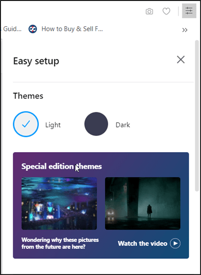 Cómo deshabilitar o habilitar el tema oscuro en el navegador Opera en Windows 10