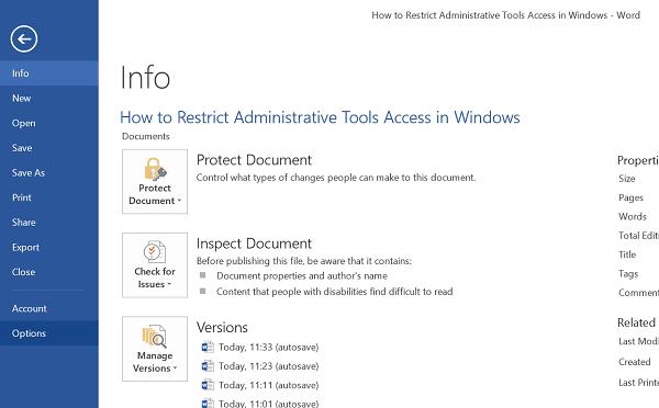 Estadísticas de legibilidad en Microsoft Word 1