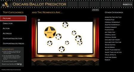 Aplicación Oscars Ballot Predictor para Excel 2013