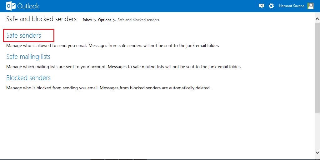 Cómo bloquear correo basura, spam y correo no deseado en Outlook.com 5