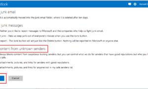 Cómo bloquear correo basura, spam y correo no deseado en Outlook.com
