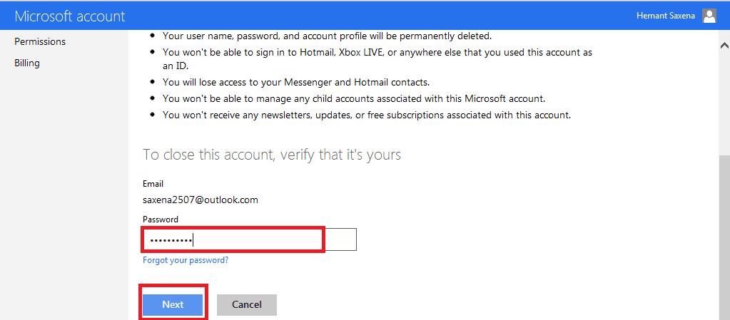 Cómo eliminar o cerrar una cuenta de correo electrónico de Outlook.com de forma permanente