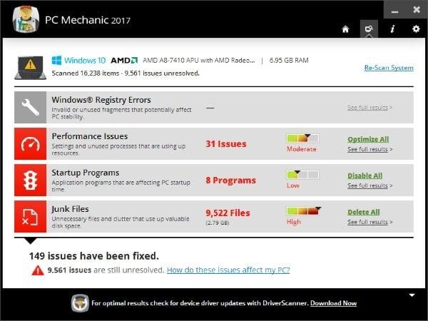 Revisión mecánica de Uniblue PC: Fije, limpie y aumente el rendimiento de su PC con Windows 1