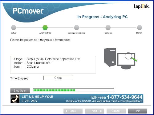 Revisión y capturas de pantalla de PCmover Express para Windows