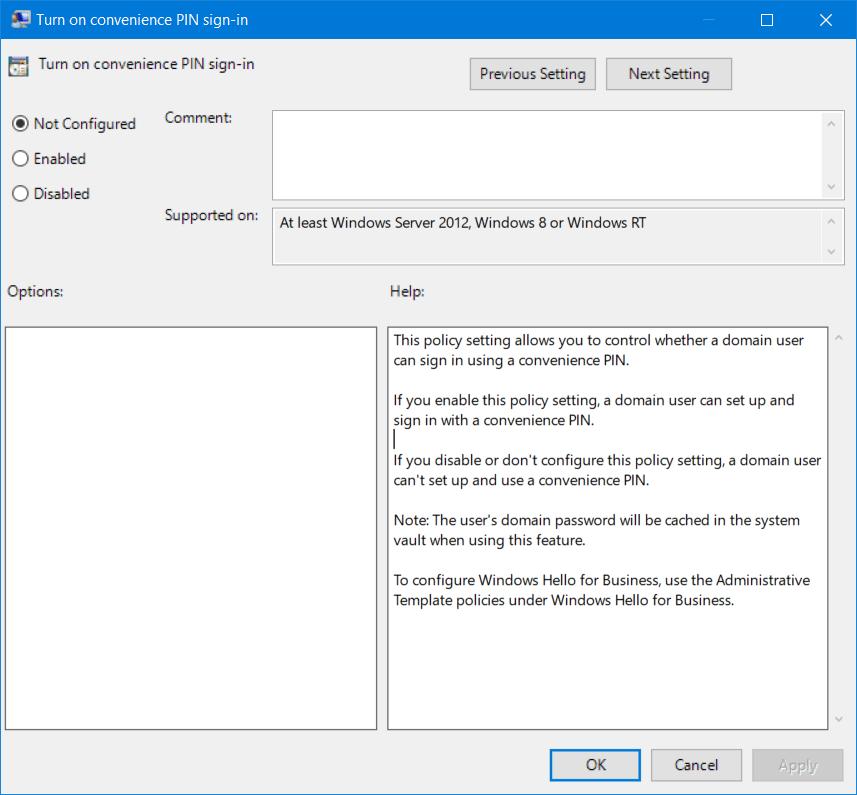 Corregir código de error 0x80090016 para PIN y Microsoft Store