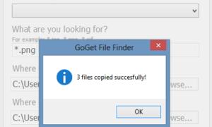 Copia rápidamente todos los archivos de un tipo de archivo a una carpeta en particular con GoGet