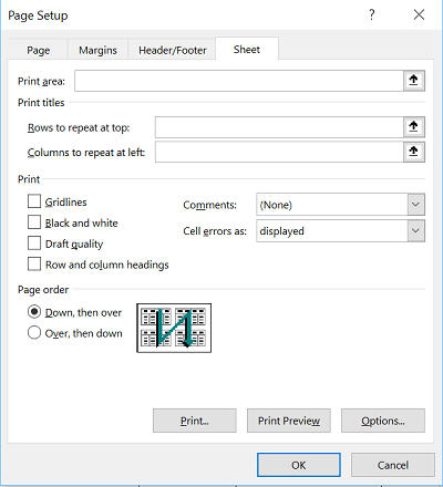 Cómo seleccionar una línea o columna como título de impresión de un informe de Microsoft Excel