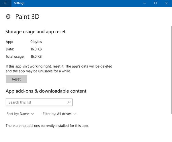 Paint 3D no está disponible actualmente en su cuenta, Código de error 0x803F8001