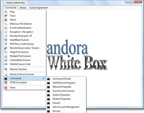 Caja Blanca de Pandora: Herramienta para administradores de sistemas Windows y expertos en seguridad