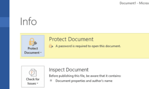Proteger con contraseña los documentos de Microsoft Office