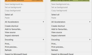 Ir a la dirección copiada o Buscar usando texto copiado en Internet Explorer en Windows 10
