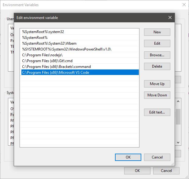 Explicación de las variables de entorno del sistema y del usuario en Windows
