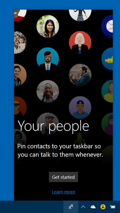 Cómo usar la Barra de personas en Windows 10 1