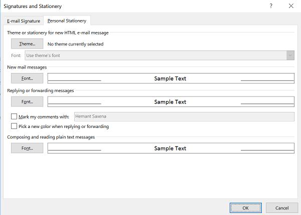 Cómo cambiar el tamaño, tipo y color de fuente predeterminados en Outlook