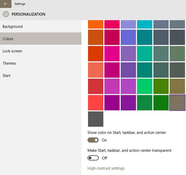 Cómo agregar un color personalizado a la barra de tareas de Windows 10 2