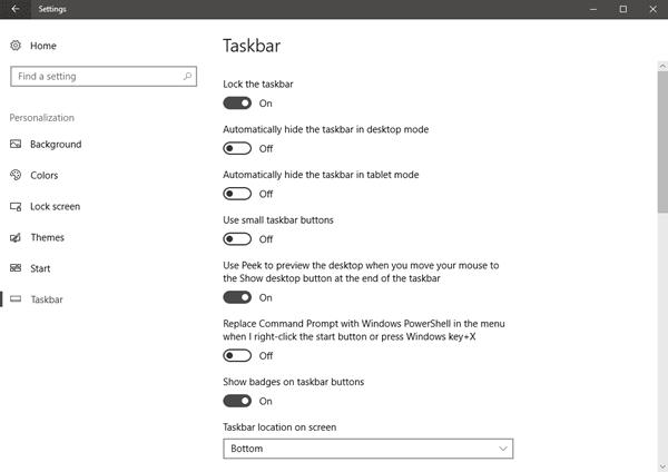 Configuración de personalización en Windows 10 1