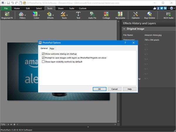 PhotoPad es un software gratuito de edición de fotos para PC con Windows. 4