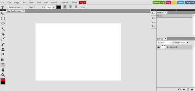 Photopea: Herramienta online gratuita para editar archivos de imagen de Photoshop & Gimp 1