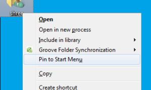 Agregar Pin al Menú Inicio al menú contextual de la carpeta en Windows 7