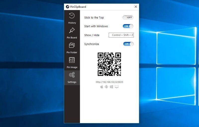 PinClipBoard es un Administrador de Portapapeles gratuito para Windows 10