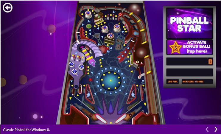 Descargar el juego Classic 3D Pinball Star para Windows 10 y Windows Phone