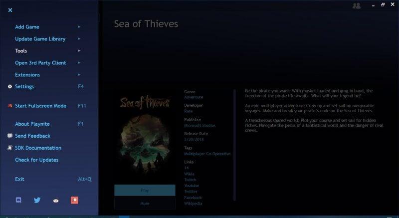 Playnite es un gestor de biblioteca de videojuegos para PC con Windows