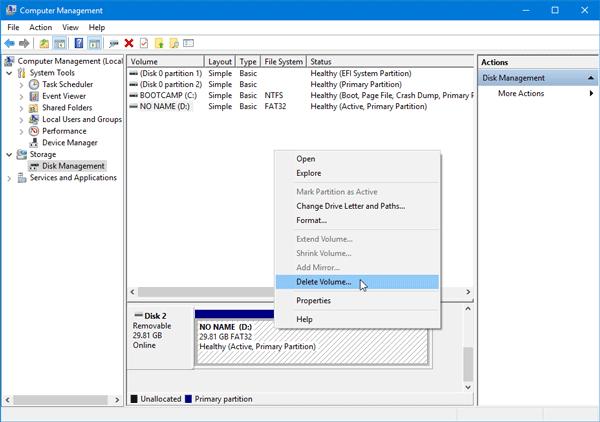Por favor, inserte un disco en el disco extraíble error en Windows 10