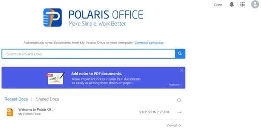 Reseña de Polaris Office Free para Windows PC 3