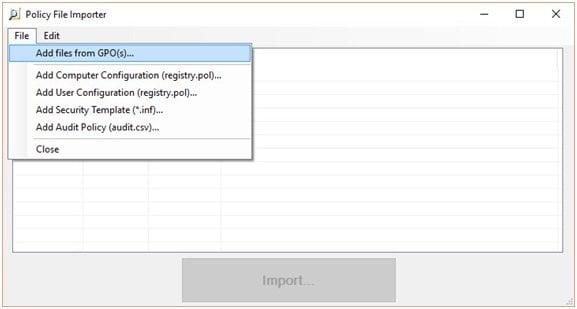Análisis de objetos de directiva de grupo con Microsoft Policy Analyzer 5