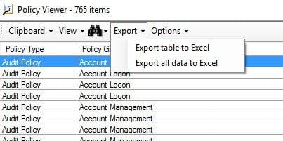 Análisis de objetos de directiva de grupo con Microsoft Policy Analyzer 9