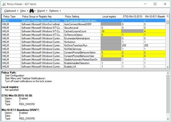 Análisis de objetos de directiva de grupo con Microsoft Policy Analyzer 1