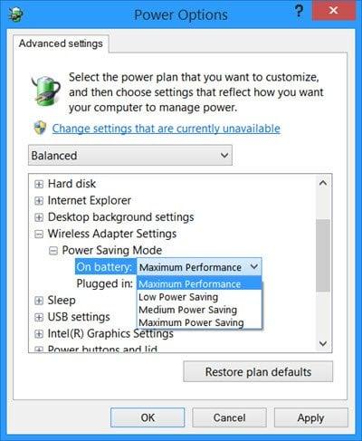 Mal rendimiento de WiFi. La conexión de red inalámbrica se interrumpe en Windows