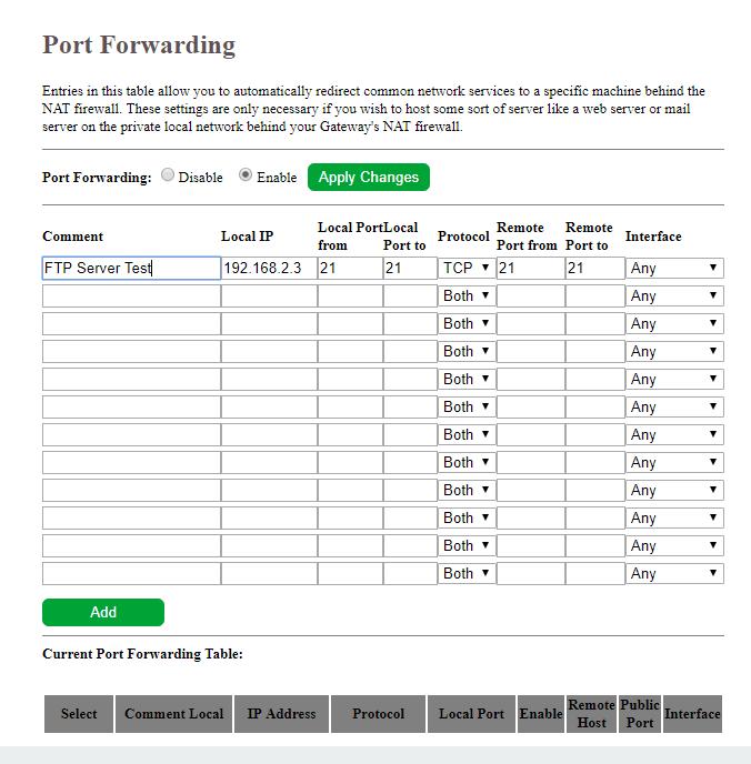 Crear un servidor FTP en Windows 10 al que se pueda acceder a través de una red externa 2