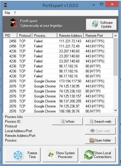 Monitoree la comunicación TCP, UDP en Windows con PortExpert 1