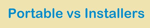 Diferencia entre la edición Portátil y la edición Installer