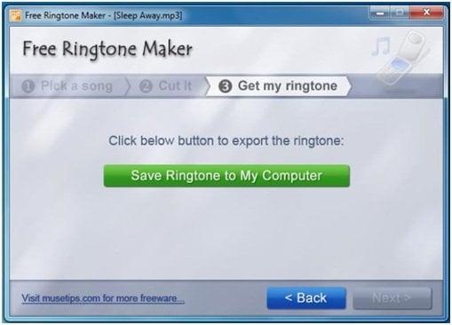 Descarga gratuita del software Ringtone Maker para Windows para crear sus propios tonos de llamada