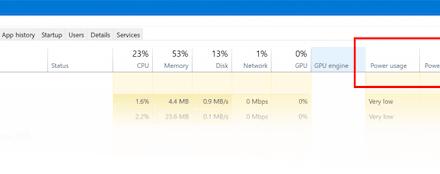 Realice un seguimiento del uso de la energía y supervise la tendencia en el Administrador de tareas de Windows 10