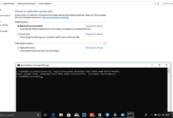 Cómo habilitar Ultimate Performance Power Plan en Windows 10 1