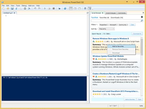 Navegador de scripts de Microsoft PowerShell: Encuentre y utilice fácilmente ejemplos de secuencias de comandos