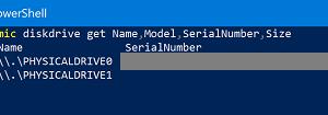 Cómo usar Windows PowerShell para buscar información acerca del disco duro