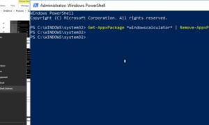 Eliminar las aplicaciones de Windows 10 incorporadas para todos los usuarios que utilizan PowerShell Script