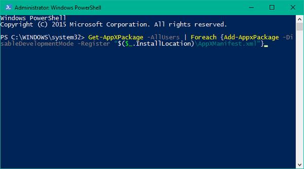 Su período de prueba para esta aplicación ha expirado el error en Windows 10