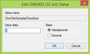 Evitar que la Reproducción automática recuerde la opción del usuario en Windows