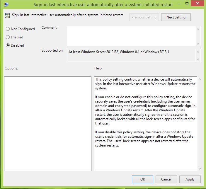 Cómo evitar el inicio de sesión automático después de instalar las actualizaciones de Windows 3