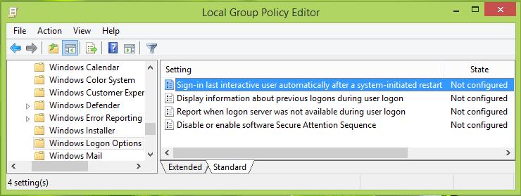 Cómo evitar el inicio de sesión automático después de instalar las actualizaciones de Windows 2